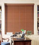 "Simple Graber 2"" faux wood blinds, horizontal wood blinds 72"" wide x 42"" long, maple color"