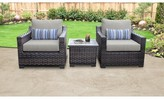 Kathy Ireland Homes & Gardens By Tk Classics River Brook 3 Piece Seating Group with Cushions Homes & Gardens by TK Classics