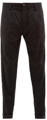 J.w.brine J.W. Brine J.w. Brine - Marshall Pleated Flecked Wool-blend Trousers - Mens - Black