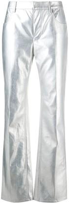 Philosophy di Lorenzo Serafini Flared Metallic Finish Trousers