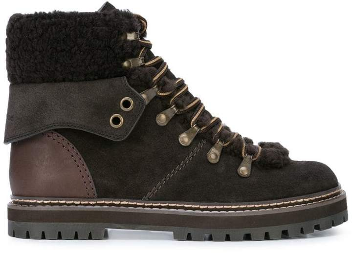 See by Chloe lace-up ankle boots