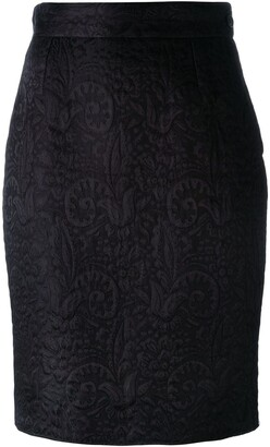 Moschino Pre-Owned jacquard pencil skirt