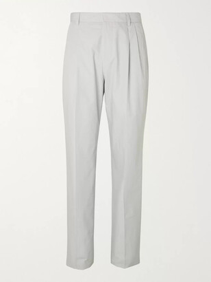 HUGO BOSS Peter Tapered Pleated Cotton Suit Trousers
