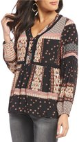 Gibson & Latimer Long Sleeve Boho Printed Blouse