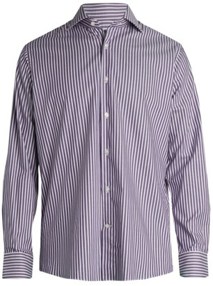 Saks Fifth Avenue COLLECTION Twill Stripe Dress Shirt