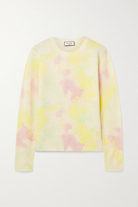 Paul & Joe Tie-dyed Wool And Cashmere-blend Sweater - Pastel yellow