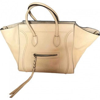 Celine Luggage Phantom Yellow Leather Handbags