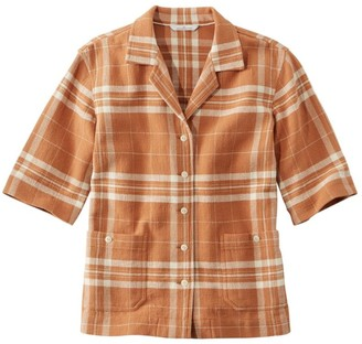 L.L. Bean Women's Signature Cool Weave Camp Shirt, Pattern