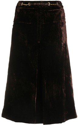 Céline Pre Owned Pre-Owned Belted Waist Skirt