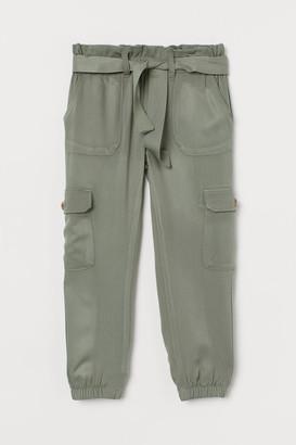 H&M Tie-belt Utility Pants - Green