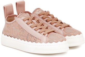Chloé Exclusive to Mytheresa Lauren lace sneakers