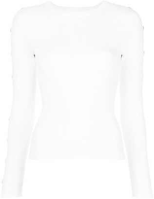 Jonathan Simkhai Cut-Detail Fitted Jumper