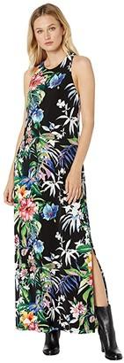 Tommy Bahama Hermosa Flora Maxi Dress (Black) Women's Clothing