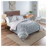 Vue Gray Medallion Mira Reversible Comforter Set