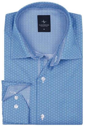 Tailorbyrd Big Boys Peri Blue Floral Dot Button-Down Shirt