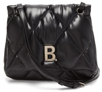 Balenciaga Touch Medium B-plaque Quilted-leather Shoulder Bag - Black