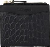 LK Bennett Kira crocodile-embossed leather purse