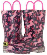 Western Chief Glitter Horse Lighted Rain Boot Girls Shoes