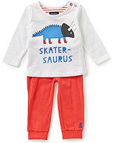 Joules Baby Boys Newborn-9 Months Byron Skater-Saurus Applique Top & Pants Set