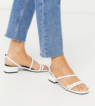 Raid Wide Fit Ruchi mid heeled sandals in white