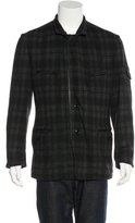 Y-3 Plaid Wool-Blend Sport Coat