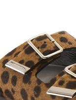 Givenchy Leopard calf-hair slides