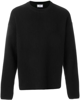 Ami Paris Crewneck Oversize Fit Double Face Rib Sweater