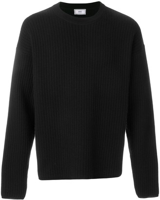 Ami crew neck Oversize Fit Double Face Rib Sweater