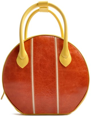 Ostwald Finest Couture Bags Circle Soft Medium In Citronella Yellow & Cognac