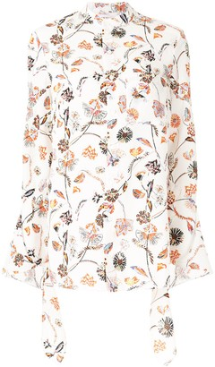 Roland Mouret Damara floral-print crepe shirt