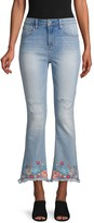 Driftwood Roxy Cropped & Frayed Flare Jeans
