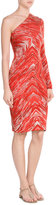 Missoni Zigzag Print Wool One-Shoulder Dress