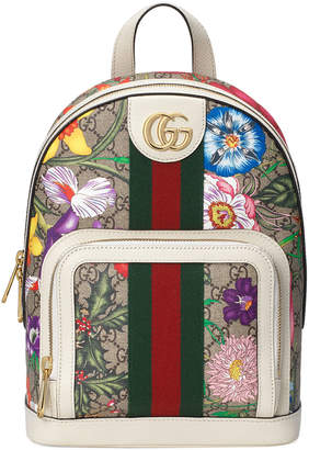 Gucci Ophidia Small GG Supreme Flora Backpack