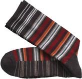 Johnston & Murphy Wool-Blend Variegated Stripe Socks