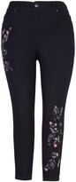 Melissa McCarthy Black Embroidered Skinny Jeans - Plus