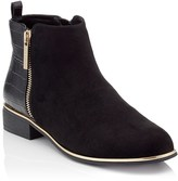 Lipsy Faux Croc Flat Ankle Boot
