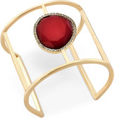 INC International Concepts Gold-Tone Stone and Pavé Openwork Cuff Bracelet, Only at Macy's