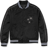 Lanvin - Embroidered Satin Bomber Jacket