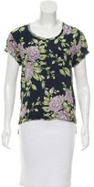 Rag & Bone Floral Print Silk Top