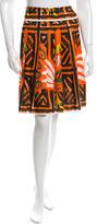 Prada Printed Flare Skirt