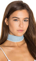 joolz by Martha Calvo Denim Choker in Blue.