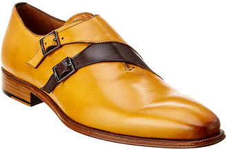 Mezlan Gianni Double Monk Leather Loafer