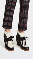 Kate Spade Sandy Wedge Shearling Booties