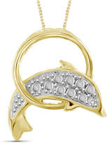 FINE JEWELRY Womens Diamond Accent White Diamond Brass Pendant Necklace