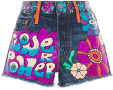 Anna Sui The Heart Hand Painted Denim Short