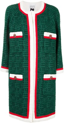 Edward Achour Paris Long-Sleeved Collarless Coat