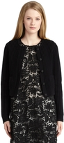 Brooks Brothers Black Cardigan with Silk Faille Buttons