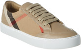 Burberry House Check Canvas & Leather Sneaker