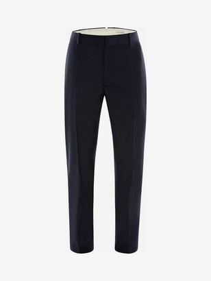 Alexander McQueen Wool Mohair Tuxedo Pants