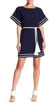 Gracia Striped Tassel Belt Dress